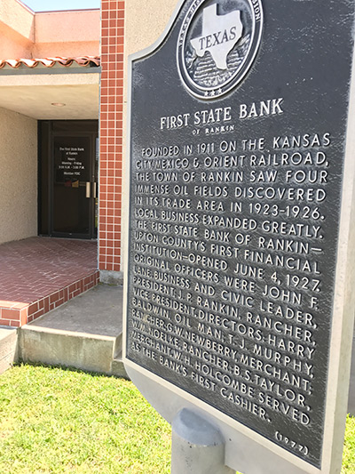 Rankin-Bank-Historical-Marker - photo